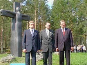 Высокие гости. Слева А.Кудрин, в центре С.Катанандов, справа П.Липпонен